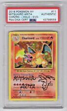 Pokemon Evolutions Mitsuhiro Arita Signed Charizard Holo #11 W/ Sketch PSA/DNA