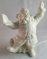 1 Vintage LENOX Santa Claus with Christmas Tree Cream with Gold Accents HTF