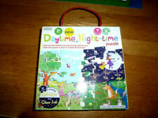 Large Piece Puzzle - 28 Large Piece- Reversible-Daytime One Side Nightime Other
