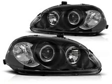 RINGS HEADLIGHTS LPHO07 HONDA CIVIC HATCHBACK / COUPE 1999 2000 2001 BLACK