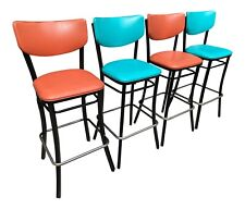 1950s-60s Vintage Retro Tall Bar Stool Chairs Set Of 4