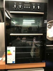ELECTROLUX EOD6335K BUILT IN BLACK DOUBLE OVEN BRAND NEW ON DISPLAY LOWEST UK ££