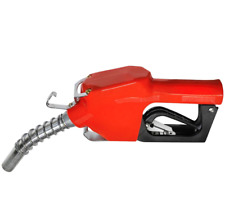 New listing Red Automatic 3/4 Inch Shut Off Fuel Nozzle 2 to 14 Gpm For Gasoline or Diesel