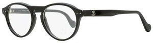 Moncler Oval Eyeglasses ML5022 001 Shiny Black 51mm 5022