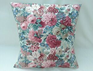 Lovely Sanderson Designer Cushion Cover ROSE & PEONY MINOR Fabric Various Sizes