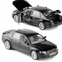 Audi A8 1/32 Metall Die Cast Modellauto Spielzeug Sammlung Pull Back Schwarz