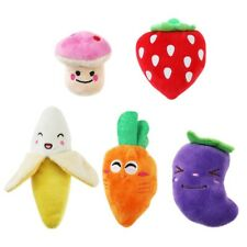 5pcs Squeaky Soft Plush Toys  Pet Dog Puppy Chew Toy Fruits Vegetables Plush Toy