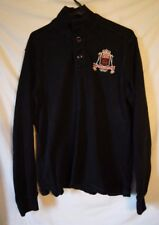 Ralph Lauren 100% Cotton Black Pullover Sz Large Pullover Big Emblem Logo LXVII
