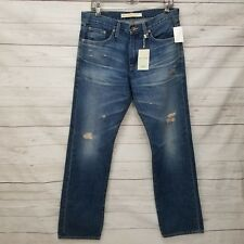 Big Star Mens 32X32 Eco Union Distressed Medium Wash Denim Straight Leg Jeans