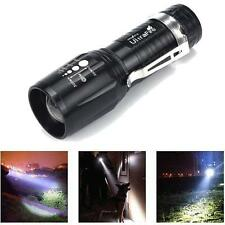 Mini Ultrafire 2200LM CREE XM-L T6 LED Flashlight Power Torch light Zoomable NEW