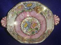 """Maling """"Peony Rose"""" Lustre Bowl (c 1953) Pattern No: 6562"""