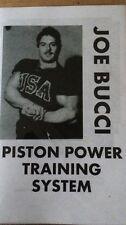 Bodybuilding Joe Bucci Piston Power Training System New booklet 2016
