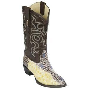 Men's Los Altos Genuine Caiman Hornback Western Cowboy Boots J Toe