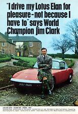 1964 Jim Clark and the Lotus Elan advert poster / print