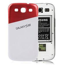 Aluminium Akku Deckel Samsung Galaxy S3 i9300 Alu Case-Cover ROT-Weiß