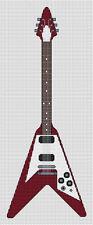 Flying V Guitar Cross Stitch Kit