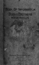Dodge Brothers Car instruction manual September 1925 (photocopy)
