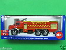 1:50 Siku Super Serie 2109 Mercedes Zetros Feuerwehr karminrot Blitzversand DHL