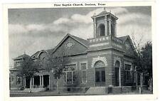 Denison TX - FIRST BAPTIST CHURCH - Postcard Texas