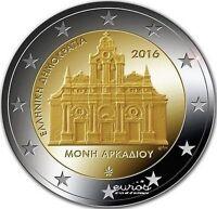 """2 euros commémorative Grèce 2016 """"Monastère d'Arkadi"""" - 742 500 exemplaire  UNC"""