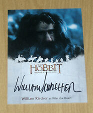 2016 Cryptozoic Hobbit Battle 5 Five Armies on-card autograph William Kircher