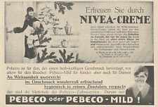 Y4875 Zahnpasta PEBECO - NIVEA Creme - Pubblicità d'epoca - 1927 Old advertising