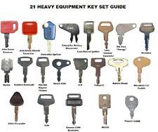21 Piece Construction Equipment Ignition Key Set Cat John Deere Case Komatsu Jcb
