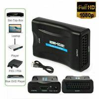 HDMI zu SCART Composite Video Converter Audio Adapter mit USB Kabel VCR DVD TV