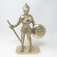 """Vintage Large Brass Knight Statue Letter Opener Medieval 11"""" tall"""