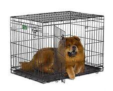 Dog Crate Tray Pan 36 inch Double-Door Folding Metal w/Divider, Intermediate NEW