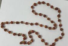 Authentic and Energized Gold Rudraksha 54+1 Beads mala