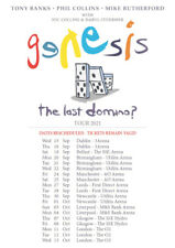 2021 GENESIS THE LAST DOMINO ? UK & IRELAND LIVE TOUR PROMO SHEET A4 MINI POSTER