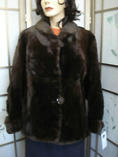 ! Mint Natural Canadian Sheared Muskrat Fur Jacket Coat Women Woman Sz 6 Small