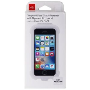 Verizon Tempered Glass Display Protector w/ Alignment Kit for iPhone SE / 5s / 5