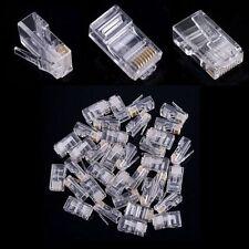 Lot de 1 à 150 fiches RJ45 a sertir Connecteurs réseau ,Prises Ethernet, Embouts