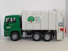 Bruder Man Rear Loading Recycling Truck TGA 41.4.40 Green Cab