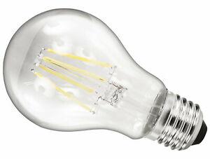 LED Illuminant 6W E27 Filament Bulb Clear Dimmable A60 360° - Warm White 2700K