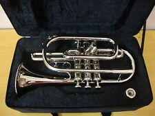 BEST-PRICE-DEAL STUDENT New Silver Bb Cornet With Free Hard Case+M/P