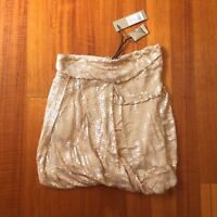 BNWT Thurley Sequin Skirt Wrap Mini Almond Gold Women's Size 10