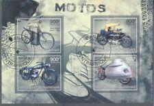 Motorcycles-Motorbikes min sheet fu/cto-Centrafricaine