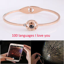 100 Languages- I Love You Bracelet Best Gift For Girlfriend Mom Wife