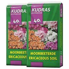 80 Liter (2x40L) Kudras Moorbeeterde Rhododendronerde  Azaleenerde Blumenerde
