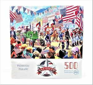 Patriotic Parade 500 Piece Jigsaw Puzzle Old Glory Collection Buffalo Games Flag