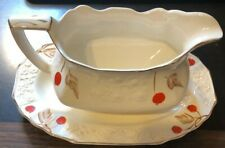 ANTIQUE Cherry Ripe Myott Son England Gravy Bowl Boat 2637.F