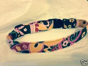 ~COLLAR SALE~ SPIFFY POOCHES Dog Cat Collar PINK BROWN ORANGE FLORAL