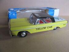 829H Vintage Japon Taxi New-York à Friction Yellow Cab N° 5 L 23 cm