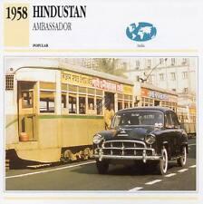 1958 HINDUSTAN AMBASSADOR Classic Car Photograph / Information Maxi Card
