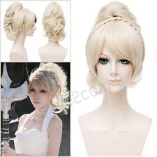 Anime Hair Lunafreya Nox Fleuret Cosplay Light Blonde Wig + Ponytail Halloween