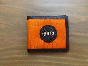 Gucci Off The Grid billfold men orange wallet Retail 370$