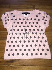 Lili Gaufrette Girl's French Pink Polka Dot Sweater Top Angora 5 Toddler France